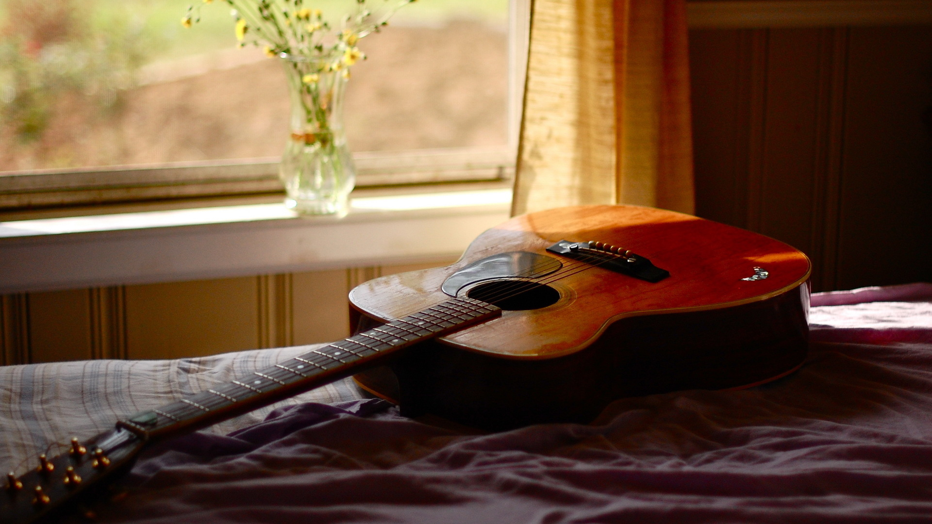 Acoustic Guitar - Wallpaper, High Definition, High Quality ...