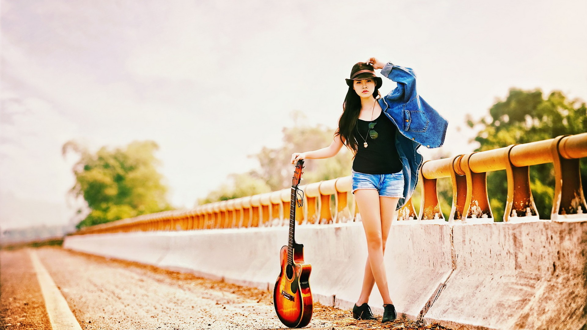 Guitar Girl - Wallpaper, High Definition, High Quality ...