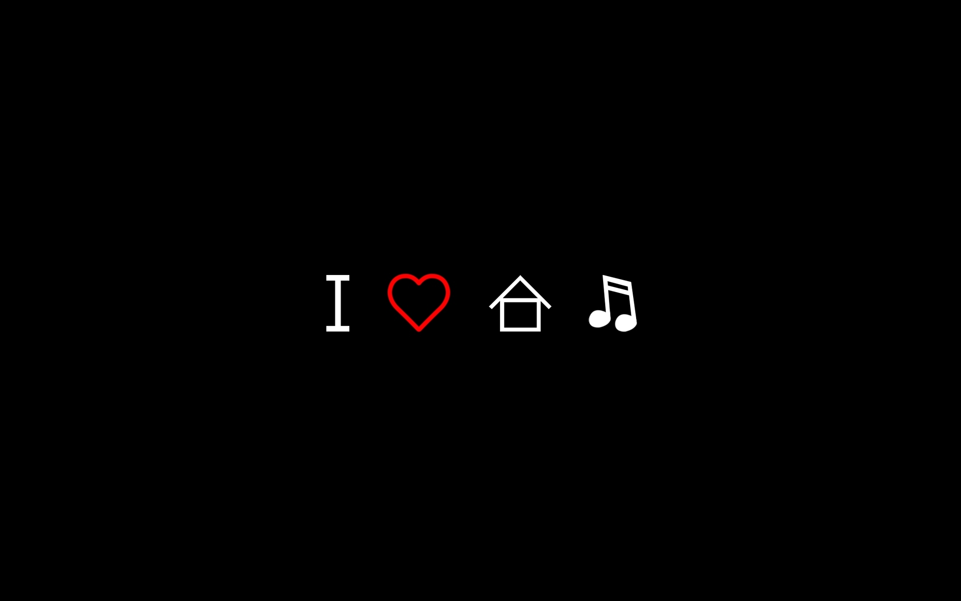 I Love House Music Wallpaper High Definition High