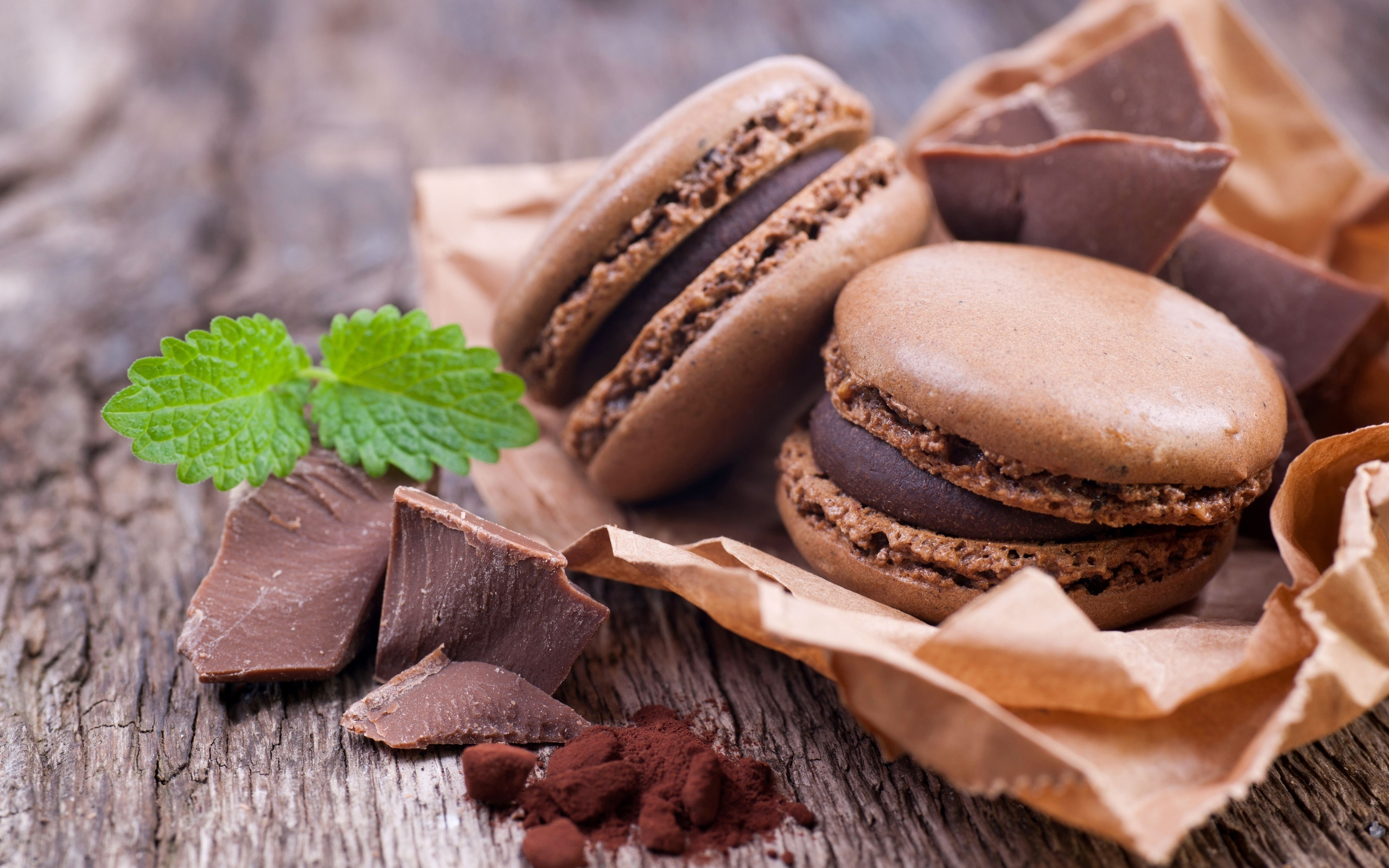 Chocolate Macarons - Wallpaper, High Definition, High ...