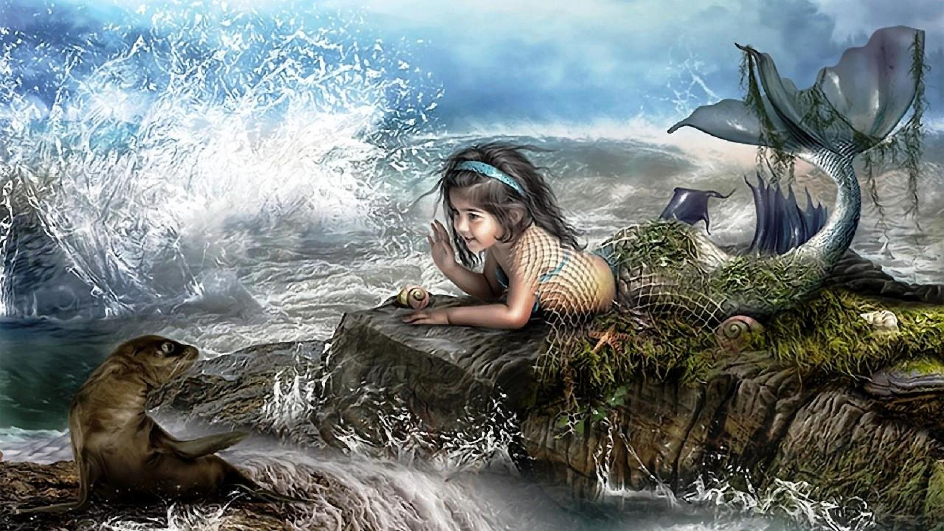 free fantasy mermaid wallpaper download the wallpaper