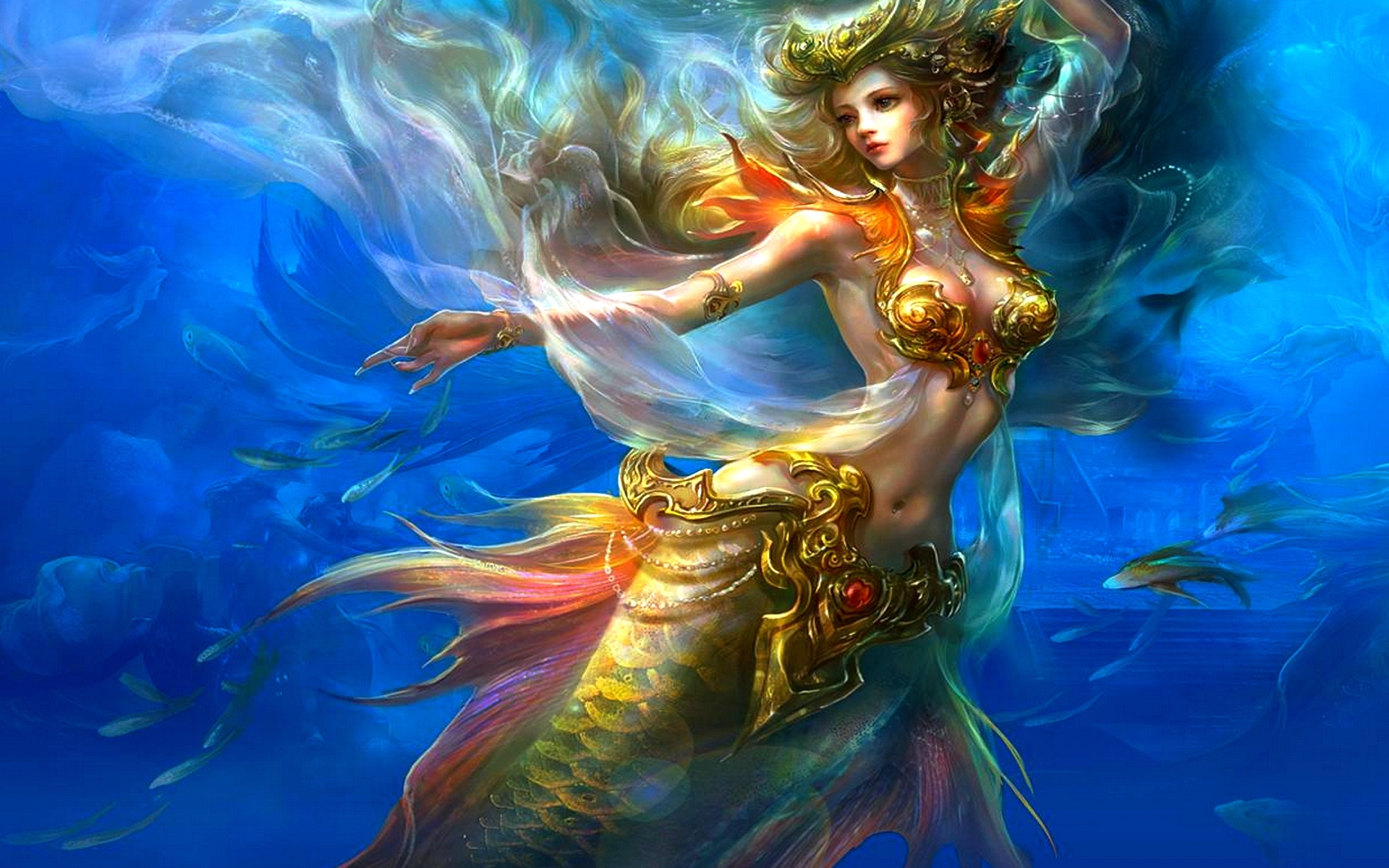mermaid desktop background wallpaper high definition