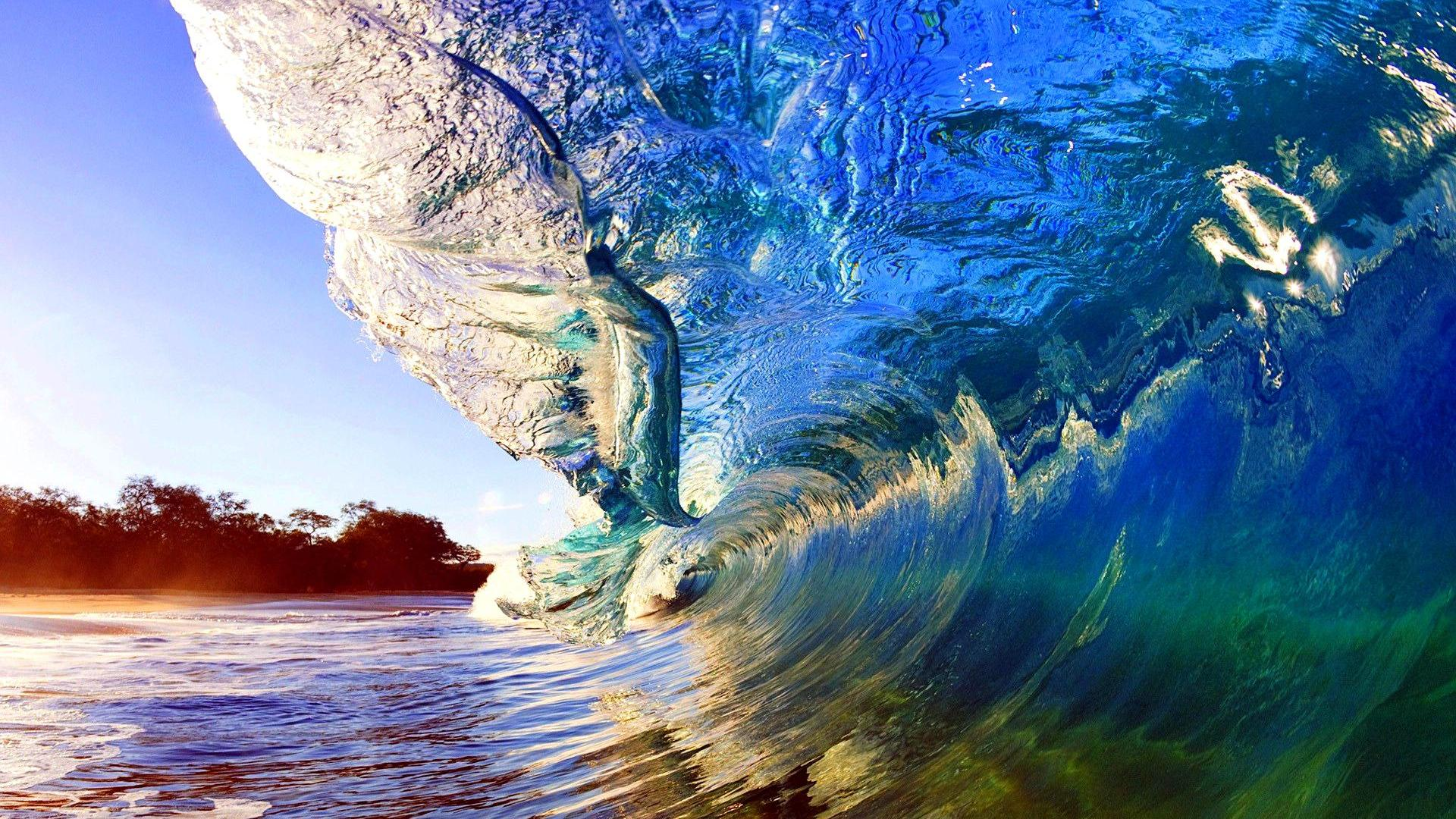 beautiful color background wave - photo #46