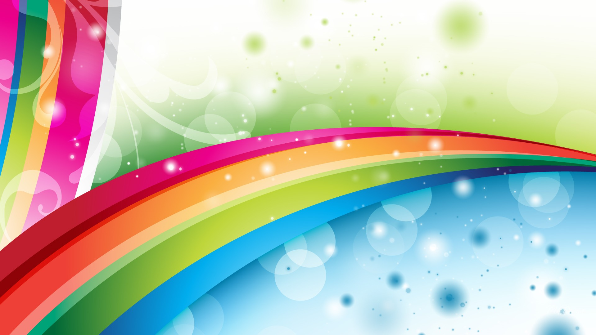 rainbow illustration wallpaper 1920x1080 - photo #21