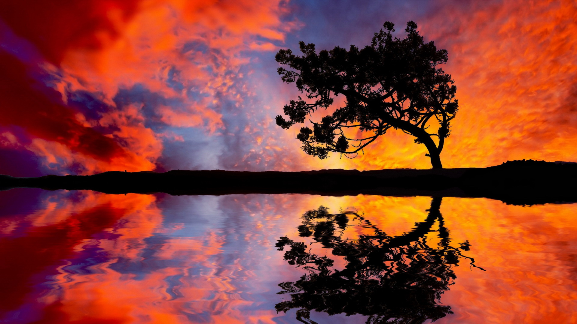 colorful sunset - wallpaper, high definition, high quality, widescreen