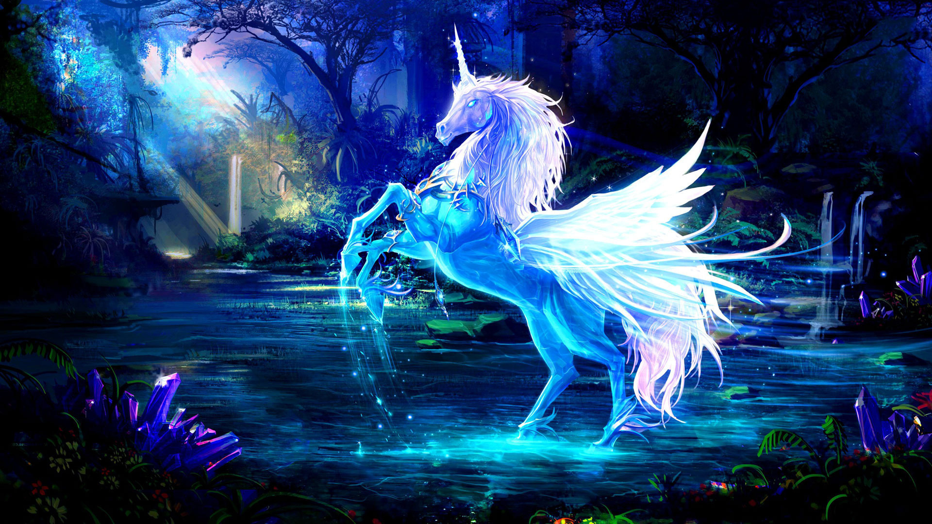 Unicorn wallpaper wallpaper high definition high quality widescreen unicorn wallpaper voltagebd Images