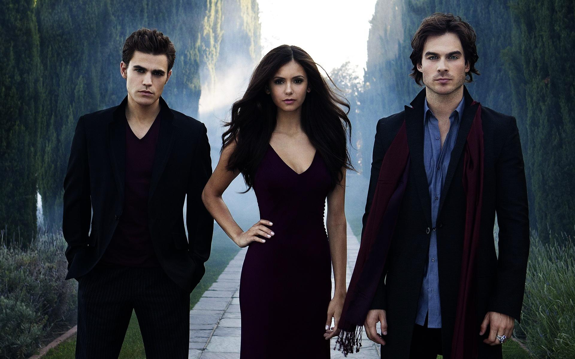 Paul Wesley Nina Dobrev Ian Somerhalder - Wallpaper, High ...