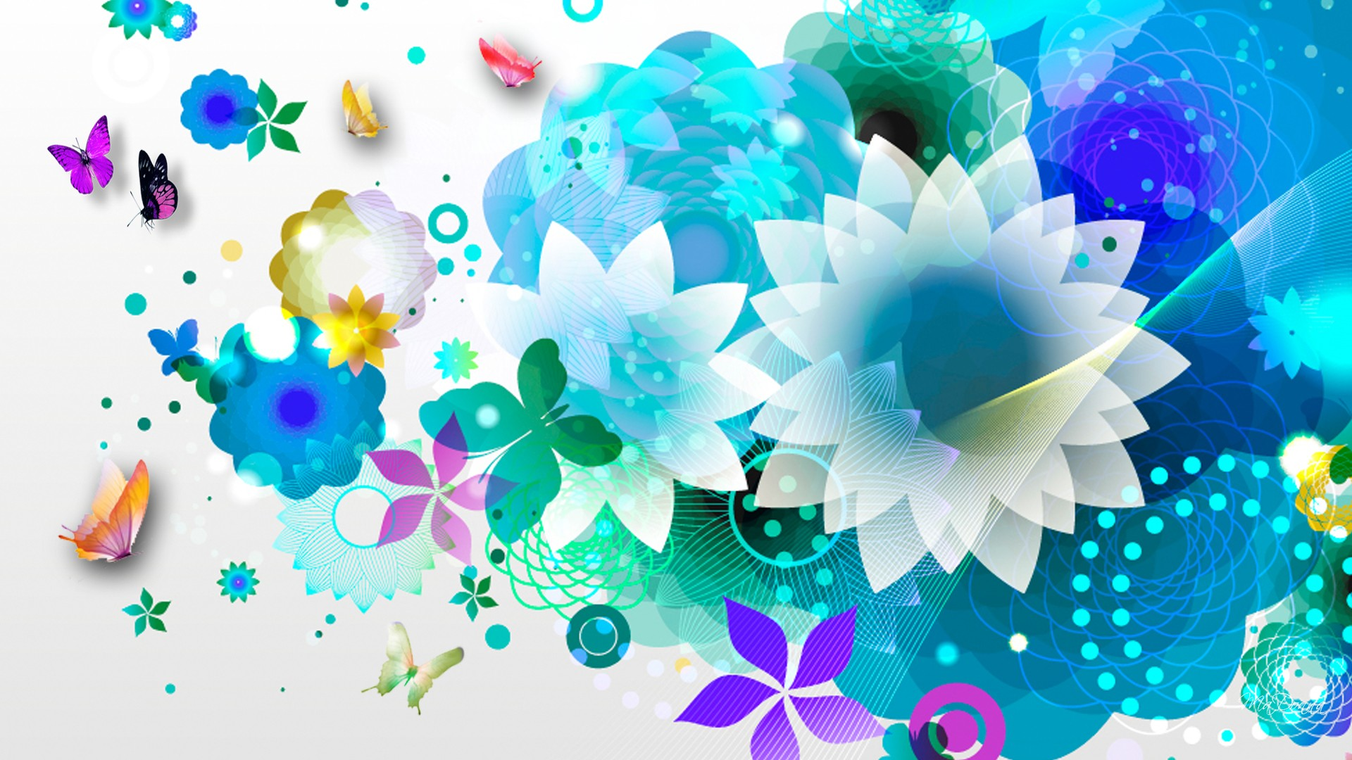 flower wallpapers widescreen space - photo #38