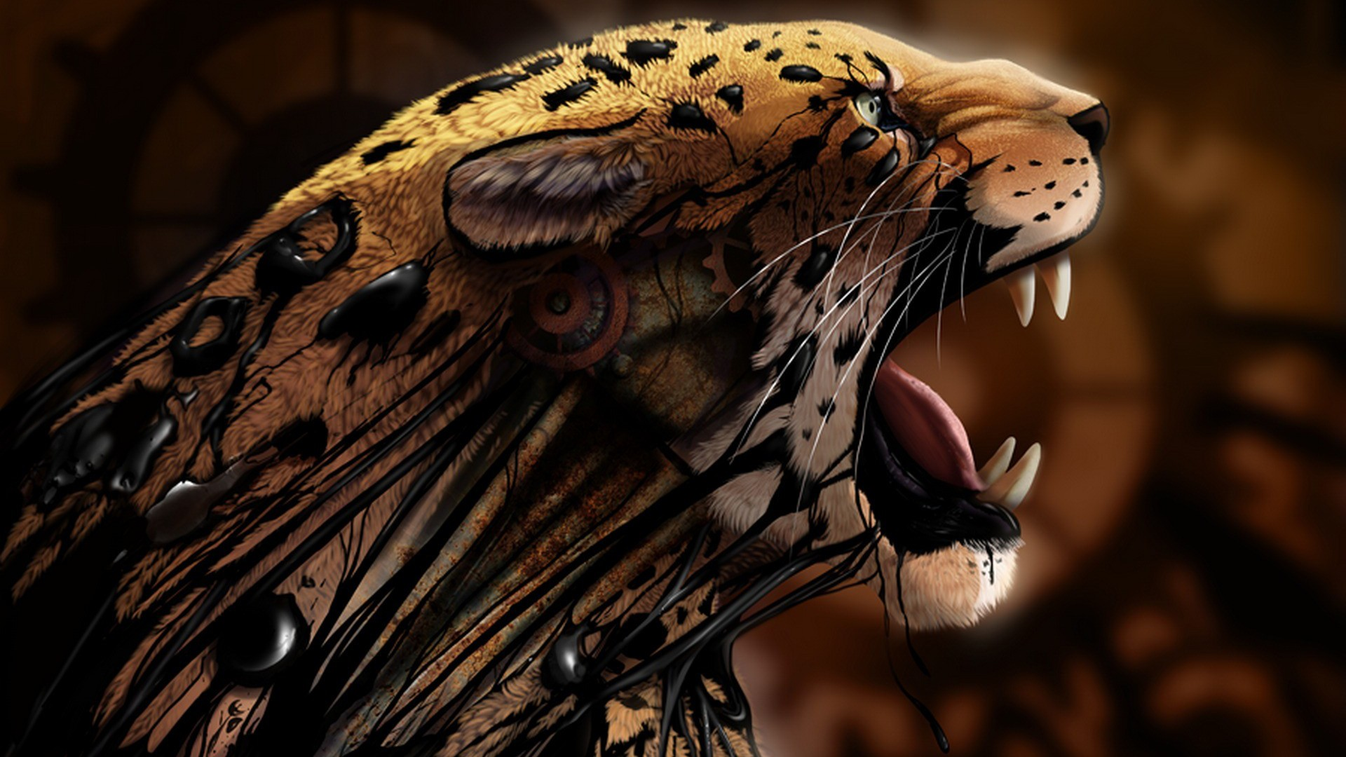 Tiger digital art wallpaper high definition high quality widescreen tiger digital art altavistaventures
