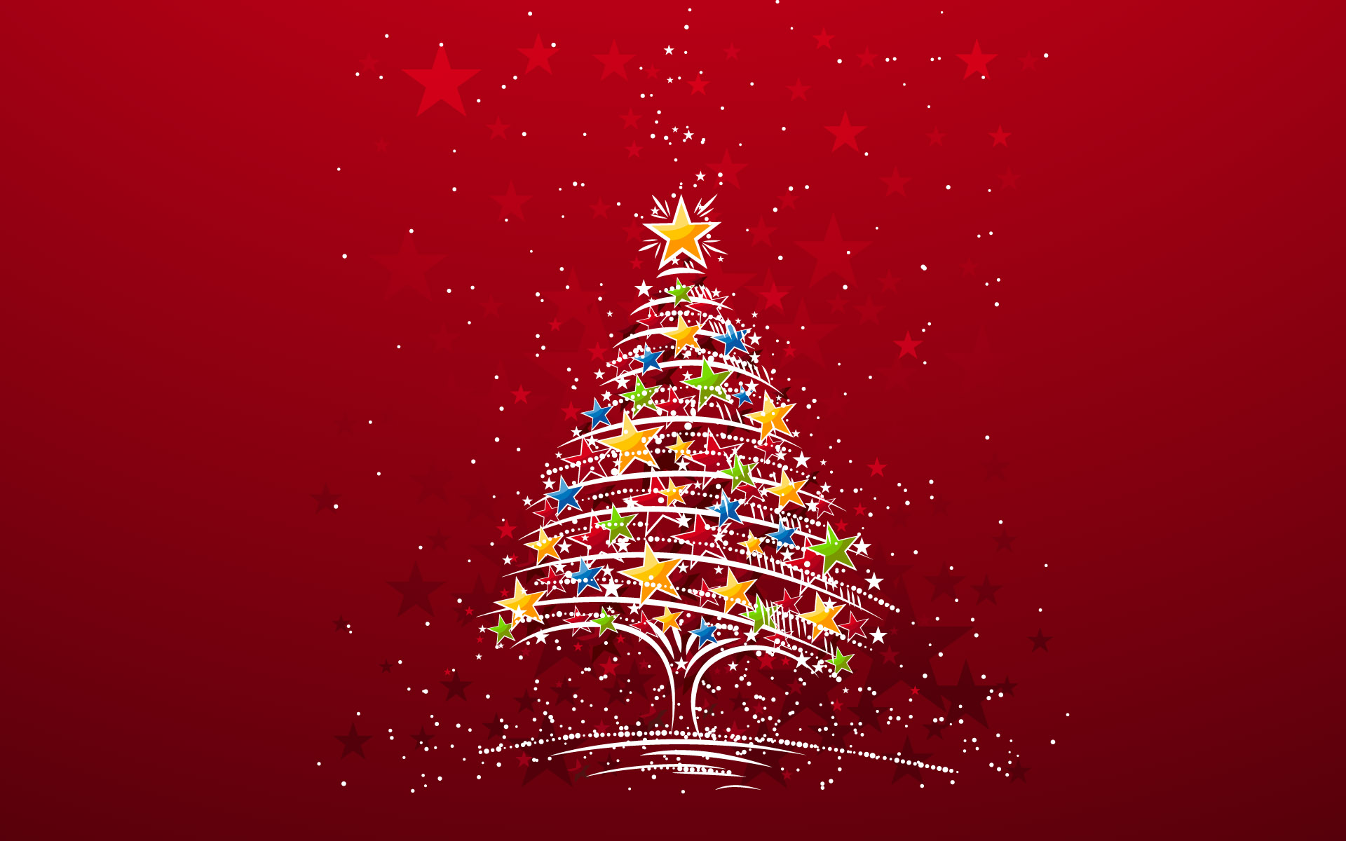 Colorful christmas tree wallpaper high definition