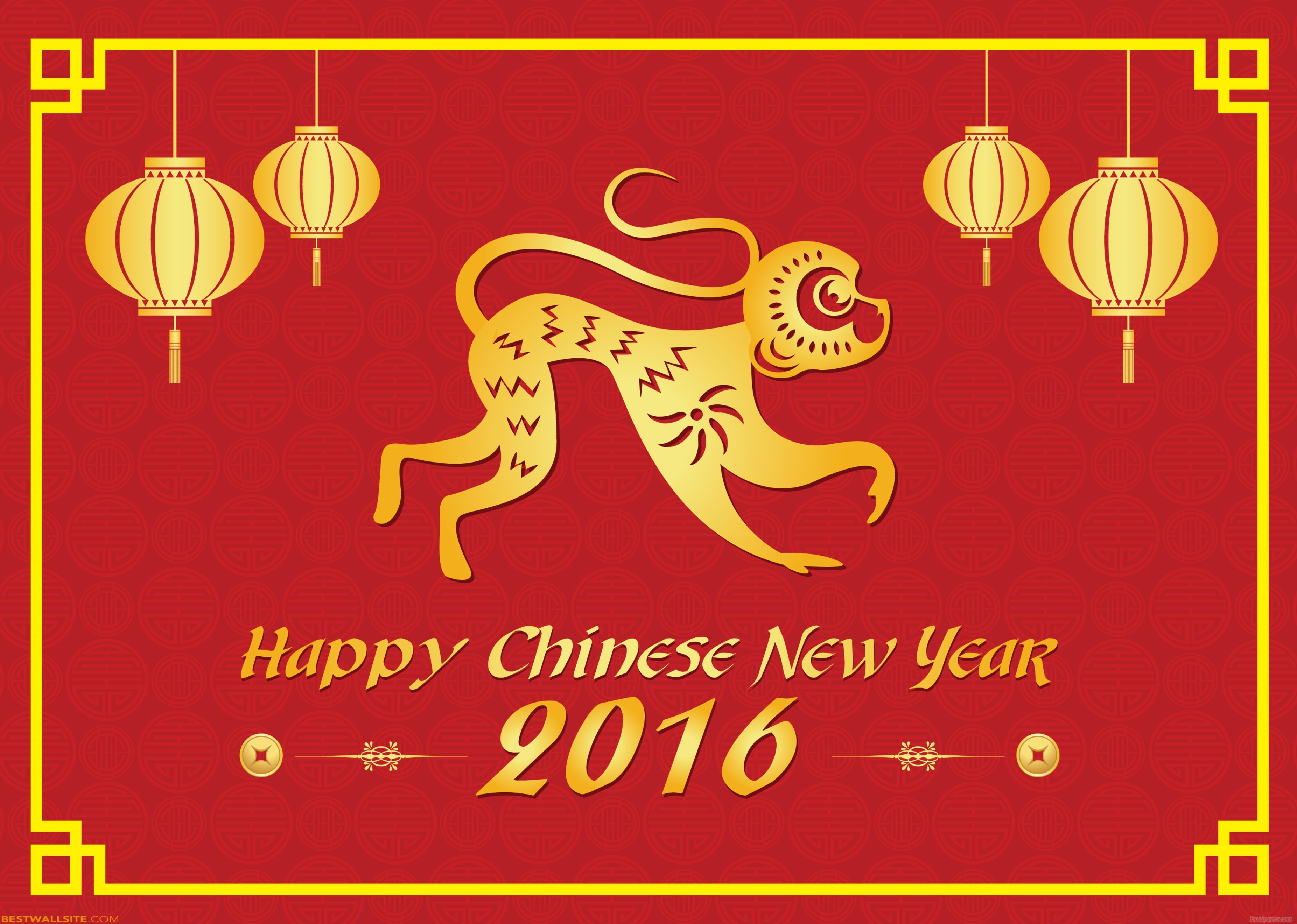 Happy Chinese New Year 2016 - Wallpaper, High Definition ...